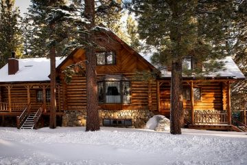 A log cabin in one of the top locations to retire in California