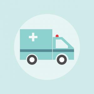 An ambulance car.