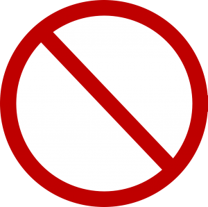 A no symbol.