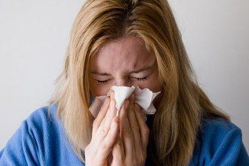 A sick woman.