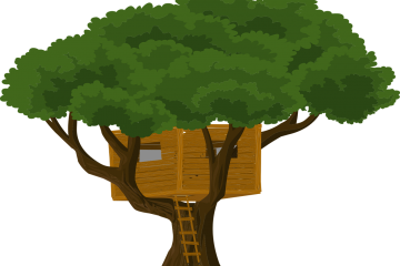 An illustration of a tree house.