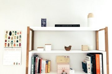 Shelving, minimalist style, one of the storage solutions for your home.