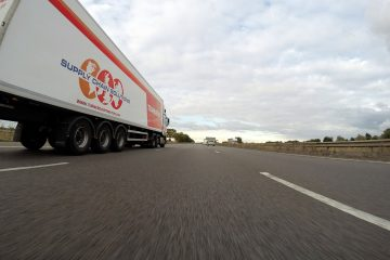 A truck on the road.