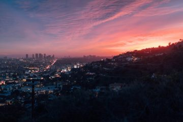The sunset and the view of some of the top-notch locations in La Verne.