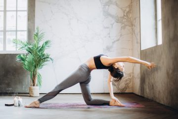 A girl doing yoga as you will be doing once you pick the right among charming Boulder City locations for your yoga studio.