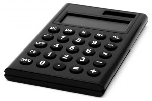 A black calculator to set the costs for moving to Redmond.
