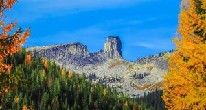 A fascinating rock formation outside Sandpoint, Idaho.